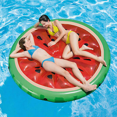 Giant 150cm X 150cm Inflatable Watermelon Raft Ride On Lounger Swimming Pool • 19.89£