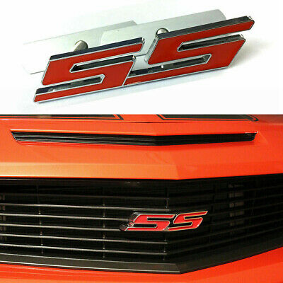 $9.99 • Buy 1X 3D Metal Chrome Red SS Front Grille Emblem Badge For Chevrolet Camaro SS