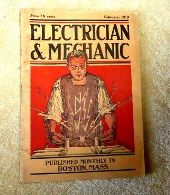 $49.99 • Buy Vintage Magazine Electrician Mechanic Calculation Of Inductance Circuit 1913