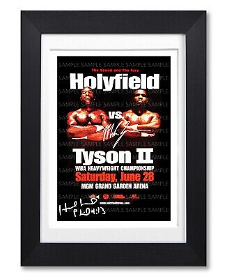 £11.99 • Buy Evander Holyfield Vs Mike Tyson Ii Signed Poster Print Photo Autograph Gift