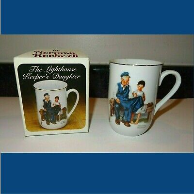 $ CDN6 • Buy The Lighthouse Keeper's Daughter Norman Rockwell Mug Cup Collector TCI NOS 1982