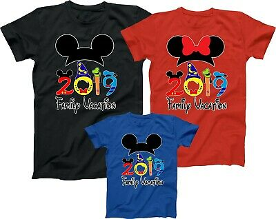 $12.89 • Buy Mickey Minnie Disney Family Vacation 2019 Best T Shirts Trip Match Tees Castle