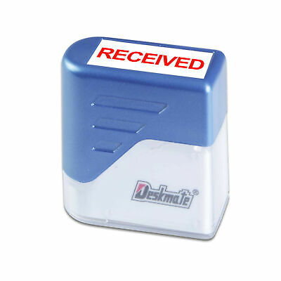 £7.99 • Buy RECEIVED Rubber Stamp DIY Office Business Deskmate Self Inking Kit