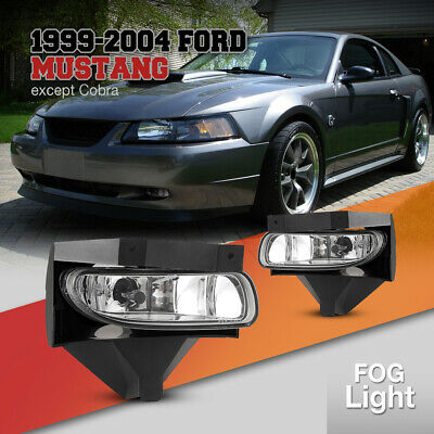 $26.71 • Buy Fog Lights For Ford Mustang 99-04 Assembly Clear Lens 899 Bulbs Pair Replacement