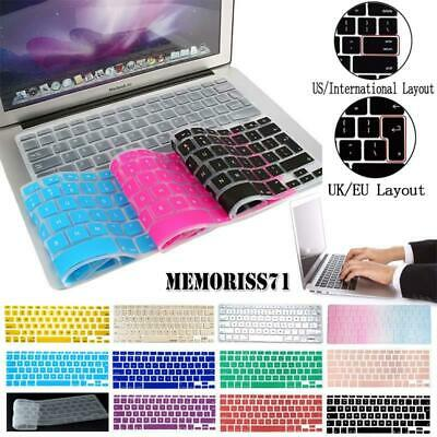 £3.49 • Buy Silicon Rubber UK / USA Layout Keyboard Cover For Apple Macbook Air Pro Retina