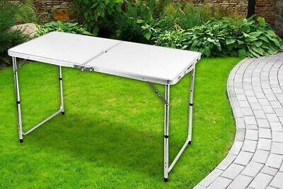 4ft Heavy Duty Folding Table Portable Plastic Camping Garden Party Catering Feet • 18.99£