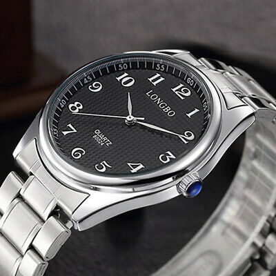 AU21.99 • Buy New Men's Luxury Watches Stainless Steel Waterproof Quartz Business Wrist Watch
