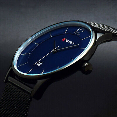 AU21.99 • Buy Men's Fashion Watches Date Mesh Stainless Steel Waterproof Quartz Wrist Watch