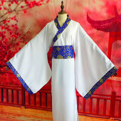 Men's Chinese Ancient Hanfu Asian Traditional Clothing Dress Robe Gown Tang • 19.99£