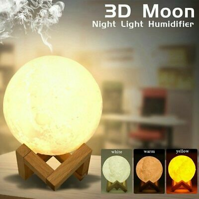 AU16.99 • Buy Air Humidifier 3D Moon Lamp Night Light Aroma Diffuser USB Home Purifier 880ml