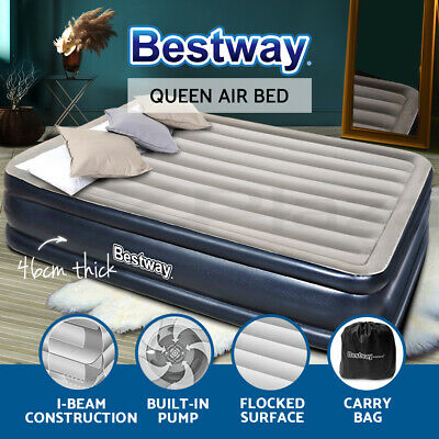 AU68.90 • Buy Bestway Air Bed Beds Mattress Queen Size Sleep Built-in Pump Camping Inflatable