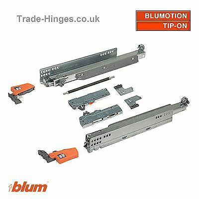 Blum Drawer Runner Movento TipOn 40kg 760H Pair L/R Set With Locking Devices L/R • 52.70£