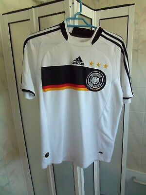 Youth Boys Adidas Retro Germany Deutcher Fussball Bund Football Shirt Size L Boy • 14£