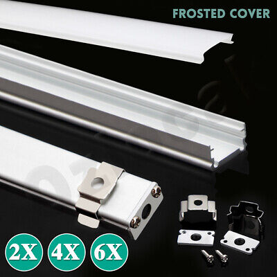 AU12.29 • Buy 1M Alloy Channel Aluminum Bar With Frosted Cover Profile For LED Strip Light
