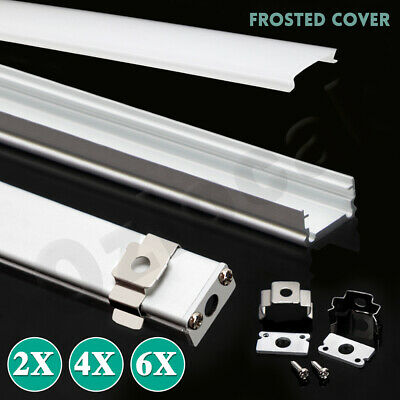 AU14.89 • Buy 1M Alloy Channel Aluminum Bar With Frosted Cover Profile For LED Strip Light