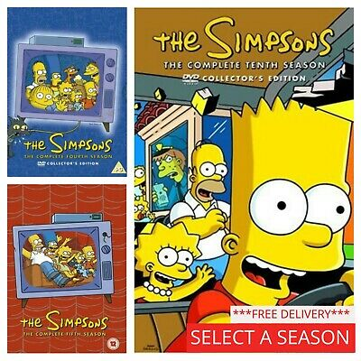 The Simpsons Box Set Complete DVD Collection Seasons Series 1 2 3 4 5 6 7 8 9... • 6.89£