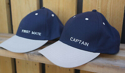 Captain And First Mate Yachting Nautical Sailing Caps • 13.99£