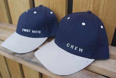 Crew And First Mate Yachting Nautical Sailing Caps • 13.99£