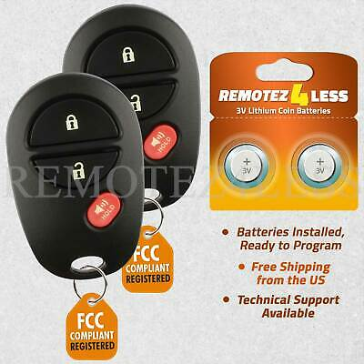 $ CDN17.72 • Buy 2 For GQ43VT20T 2005 2006 2007 2008 2009 Toyota Tacome Remote Fob 89742-AE011