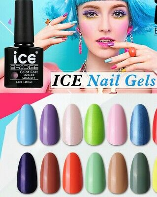 Ice Nail Gel Uv Led Polish Varnish Soak Off Top Base Coat Manicure Remover Uk • 2.69£
