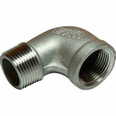 90 Degree Elbow M/F BSP Pipe Fitting Stainless Steel 316 A4 Grade 150lb All Size • 7.07£