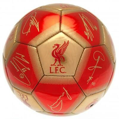Official Liverpool Fc Football Size 5 Ball Printed Signatures Signed Gold & Red • 12.99£