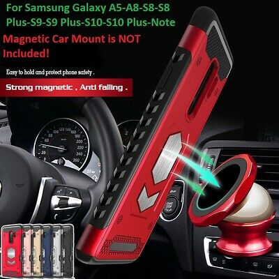 $ CDN7.45 • Buy Armor Case  Bumper Car Magnetic Card Holder For SAMSUNG A5 A8 8 9 10 Plus Note 8