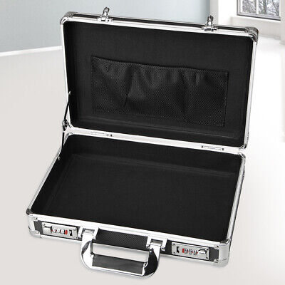 $36.65 • Buy Aluminum Hard Case Box Briefcase Toolbox Storage Box Cases Black Carrying Cases