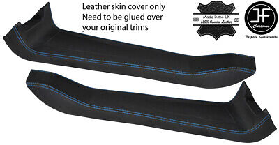 $ CDN265.12 • Buy Blue Stitch 2x Door Sill Trim Top Grain Leather Cover For Lotus Elise S2 01-10