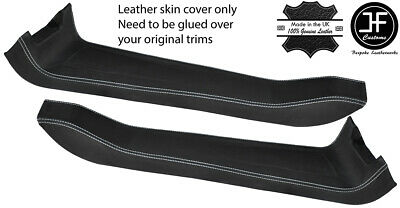 $ CDN265.12 • Buy White Stitch 2x Door Sill Trim Top Grain Leather Cover For Lotus Elise S2 01-10