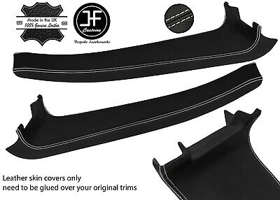 $ CDN254.46 • Buy White Stitch 2x Door Sill Trim Top Grain Leather Cover For Lotus Elise S2 07-11