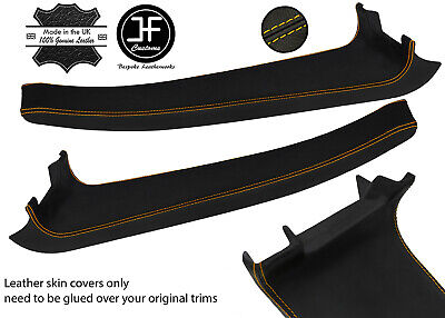 $ CDN254.46 • Buy Yellow Stitch 2x Door Sill Trim Top Grain Leather Cover For Lotus Elise S2 07-11