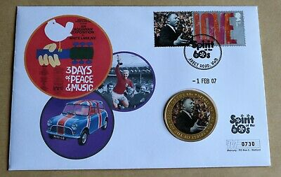 SPIRIT OF THE 60s 2007 MERCURY COVER + MARTIN LUTHER KING MEDAL • 9.95£