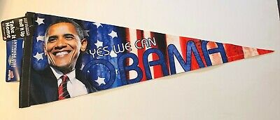 $6.99 • Buy BARACK OBAMA 2008 PRESIDENTIAL INAUGURATION POLITICAL BUTTON PENNANT VINTAGE New