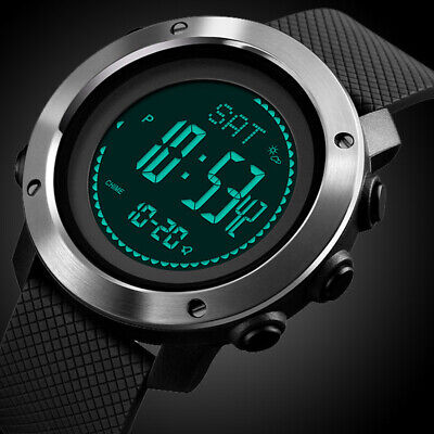 AU39.99 • Buy Mens Digital Army Sport Watch Waterproof Thermometer Altimeter Barometer Compass