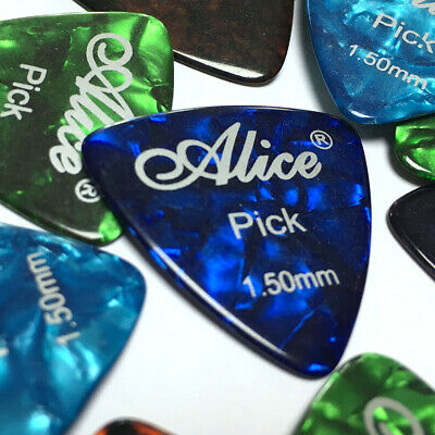 $ CDN12.07 • Buy Lots Of 24pcs Alice AP-ALT 1.5mm Heavy Celluloid Rounded Triangle Guitar Picks