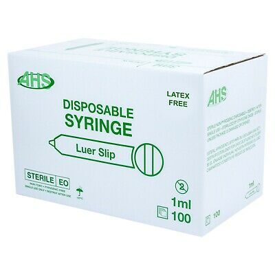 $ CDN120.82 • Buy AHS 1ml (1cc) Luer Slip Syringe, 1000/Case