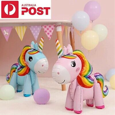 AU6.99 • Buy Unicorn Party Foil Happy Birthday Balloons And Star And Dinosaur Foil Balloons