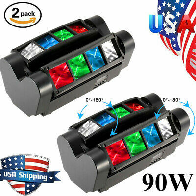 2PCS 120W RGBW 8LED Spider Stage Lighting Moving Head DJ Bar Party Lights US • 94.96$