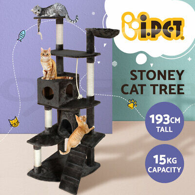 AU78.90 • Buy I.Pet Cat Tree Trees Scratching Post Scratcher Tower Condo House Grey 193cm