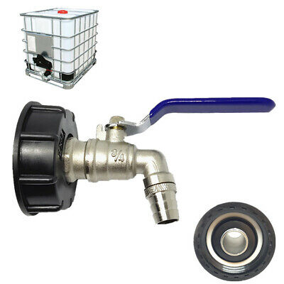 3/4  IBC Outlet Tap Adapter 1000L Tank Rainwater Container Fitting Connector TP • 11.99£