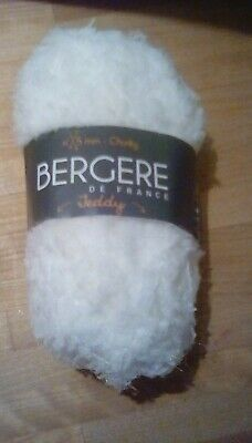 BERGERE DE FRANCE TEDDY YARN - BLANCHE/WHITE-10x 50g BALL • 46£
