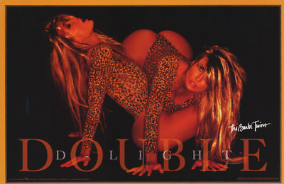 £7.20 • Buy 1994 Poster Barbi Twins Double Delight Sexy Female Models #2750 New Sealed