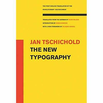The New Typography (Weimar And Now: German Cultural Cri - Paperback NEW Tschicho • 40.04£