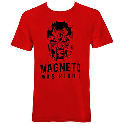 X-Men Magneto Was Right Men's T-Shirt Red • 21.44£
