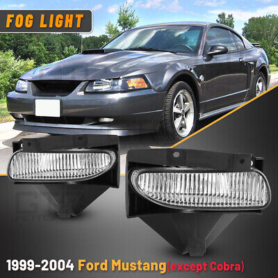 $30.39 • Buy Fog Lights Fits 99-04 Ford Mustang PAIR Replace Driver Passenger Side Clear Lens