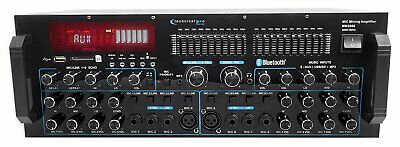 $169.95 • Buy Technical Pro MM3000 Powered Bluetooth Microphone Mixer Amplifier Amp SD, USB