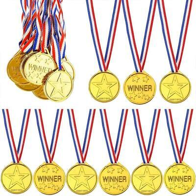 £4.29 • Buy 6-144PCS Children Gold Plastic Winners Medals Sports Day Party Bag Awards Toys