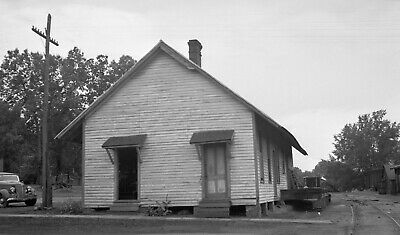 $ CDN12.53 • Buy Early 1900's Photo Negative Of Unidentified Derelict Train Station Oquossoc ME ?