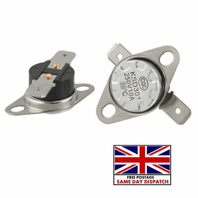 £3.61 • Buy KSD301 55°C / 131°F Degree Celsius N.O NO Temperature Switch Thermostat 10A 250V